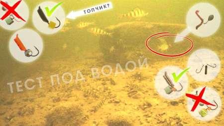 Лучшие мормышки на пассивного окуня под водой