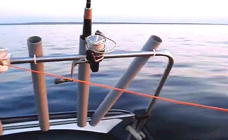 мачта к троллинга сверху поливинилхлоридный  лодку