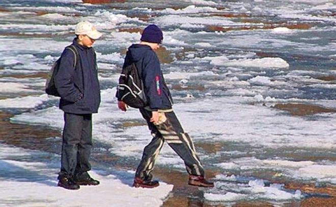 Природа, лёд, отдых